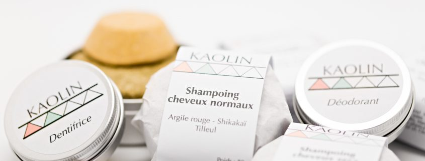 Packaging gamme cosmétiques Kaolin