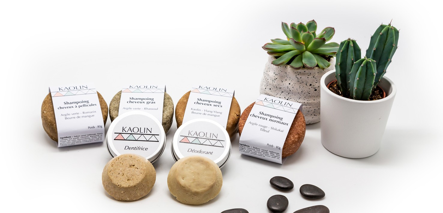 gamme de cosmétiques Kaolin