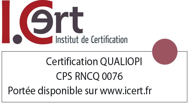 logo certification I.CERT pour Qualiopi